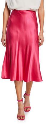 Cinq à Sept Marta Silk A-Line Midi Skirt
