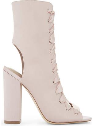 Aldo Ladies Light Pink Luxury Rosamilia Lace-Up Ankle Boots