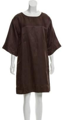 Marc Jacobs Short Sleeve Knee-Length Dress Brown Short Sleeve Knee-Length Dress