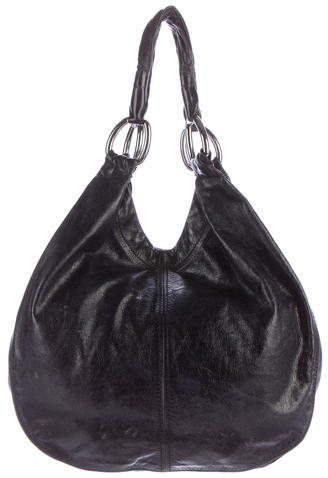 Miu MiuMiu Miu Distressed Leather Tote