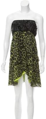 Alice + Olivia Leopard Print Tiered Dress