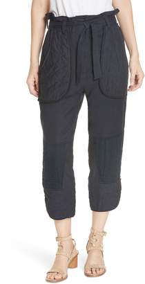 Sea O'Keeffe Quilted Patch Crop Pants