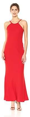 Calvin Klein Women's Halter Neck Crepe Gown