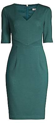 Trina Turk Women's Eastern Luxe Locale Elbow-Sleeve Sheath Dress - Size 0