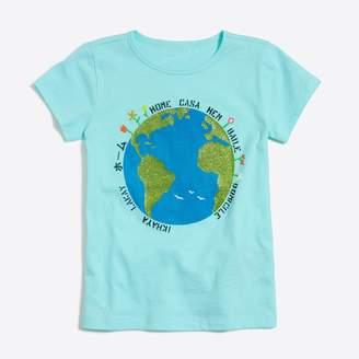 J.Crew Factory Girls' glitter earth keepsake T-shirt
