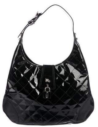 Burberry Quilted Patent Leather Brooke Hobo