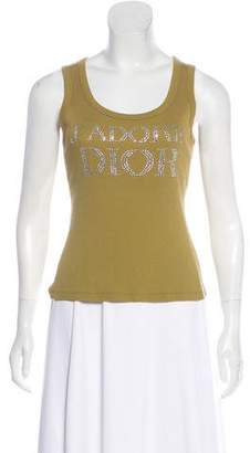 Christian Dior Embellished Logo Tank Top