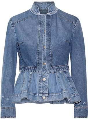 Alexander McQueen - Layered Denim Peplum Jacket - Mid denim $1,995 thestylecure.com