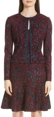St. John Sparkle Velvet Jacquard Jacket