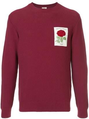 Kent & Curwen embroidered rose sweatshirt