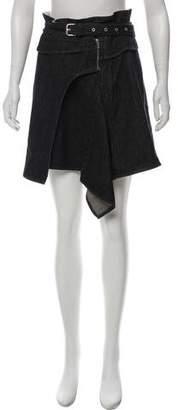Isabel Marant Asymmetrical Denim Skirt