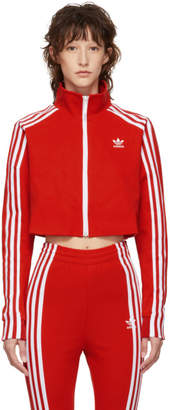 adidas Red Cropped Track Jacket