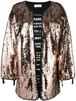 Faith Connexion sequin cape coat