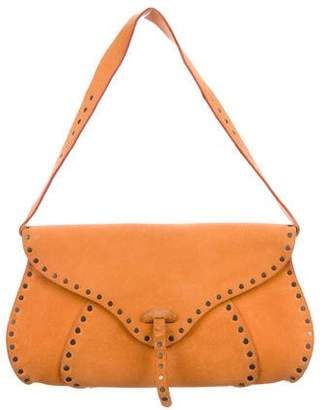 Celine Vintage Studded Suede Shoulder Bag