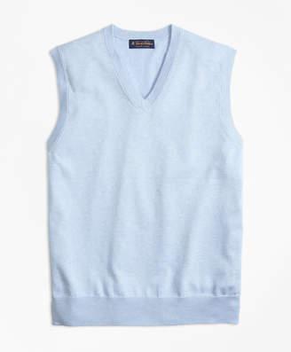 Brooks Brothers Supima Cotton V-Neck Sweater Vest