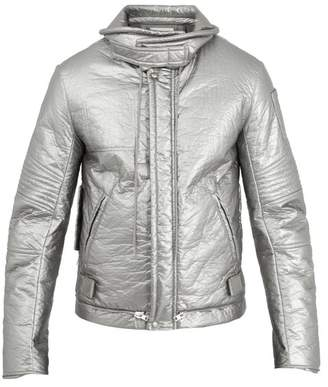 Helmut Lang - Astro Moto 1999 Quilted Jacket - Mens - Silver