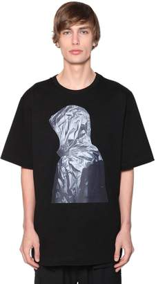 Juun.J PRINTED OVER COTTON JERSEY T-SHIRT