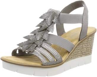 30c939da3bd0 Rieker 65505-42 Grau Womens Sandals 7 US