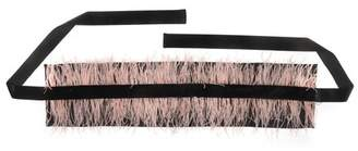 Josie Natori Duchess Satin Belt With Feathers