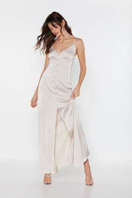 ec5677a7497 Nasty Gal Like Button Wouldn t Melt Satin Maxi Dress