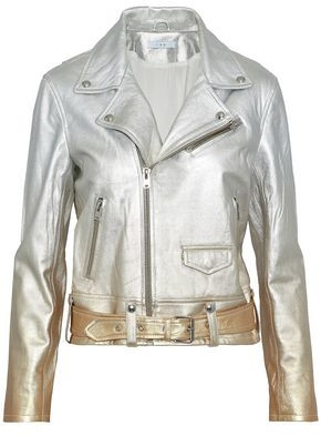IRO Metallic Dégradé Leather Biker Jacket