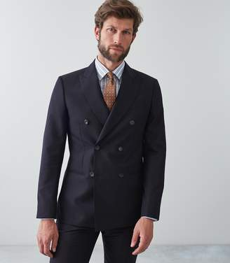 Reiss Our last order date for Christmas has now passed BAMBURGH DOUBLE BREASTED BLAZER Navy