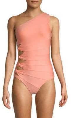 Carmen Marc Valvo One-Piece One-Shoulder Swimsuit