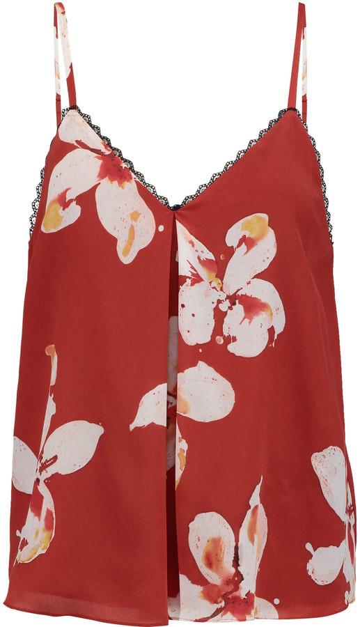 Alice + OliviaAlice + Olivia Alice + Olivia Carlene printed silk camisole