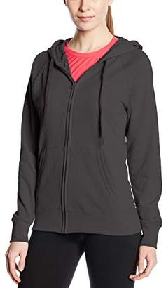 Fruit of the Loom Women's Zip Front Lightweight Hooded Sweat, (Manufacturer Size:)