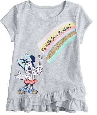 """Disneyjumping Beans Disney's Minnie Mouse Girls 4-7 """"Paint The Town Rainbow"""" Tee by Jumping Beans"""