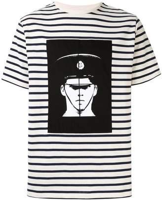 41eb2cc1 J.W.Anderson Police print stripes T-shirt