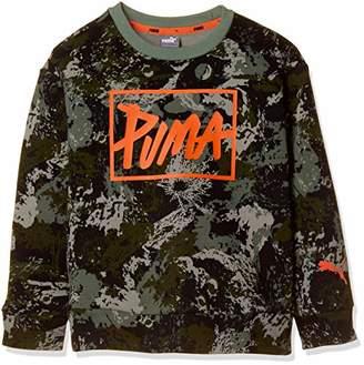 Puma (プーマ) - [プーマ] トレーニングウェア Style クルースウェット AOP 853689 [ボーイズ] ピーコート (66) 日本 150 (日本サイズ150 相当)