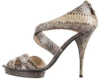 Oscar de la Renta Platform Python Sandals