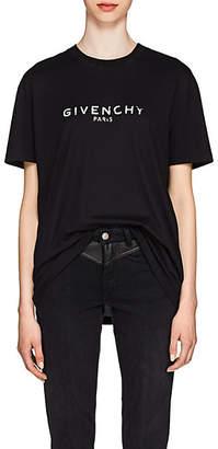 Givenchy Women's Logo Cotton Oversized T-Shirt - Black