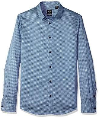Armani Exchange A|X Men's Long Sleeve Print Shirt