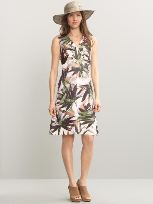 Aline printed ruched dress