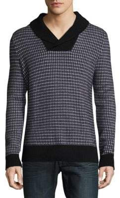 HUGO BOSS Checkered Wool Sweater