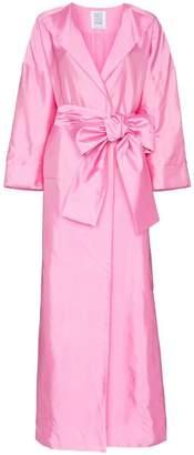 Rosie Assoulin oversized sash silk coat