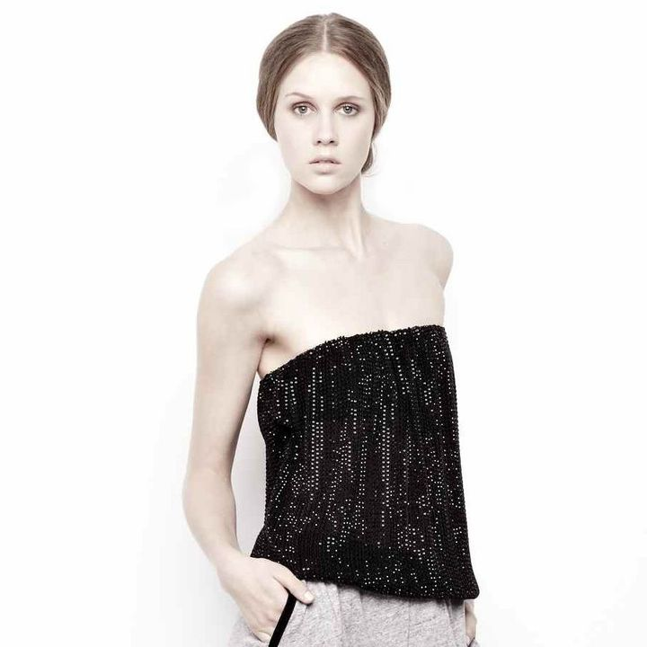 L'AGENCE Beaded Tube Top