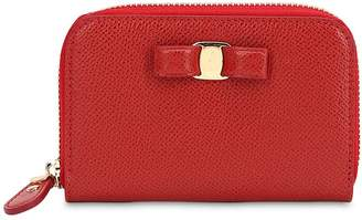 Salvatore Ferragamo Small Vara Leather Zip Around Wallet