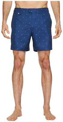 Original Penguin Polka Dot Lemon Fixed Volley Stretch Swim Shorts Men's Swimwear