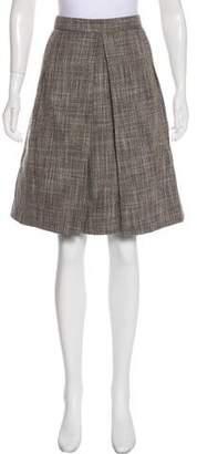 Marc Jacobs Pleated Tweed Skirt