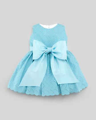 Helena Eyelet Cupcake Dress, Sizes 12-24 Months