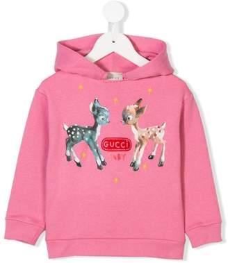 Gucci Kids bambi print hoodie