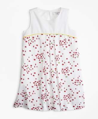 Brooks Brothers Girls Cotton Bug Print Dress