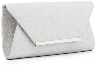 494b58169f at Debenhams · Debut - Silver Glitter Envelope Clutch Bag
