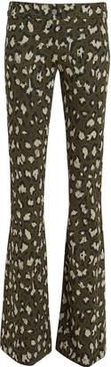 Diane von Furstenberg Leopard Jacquard Flare Pants