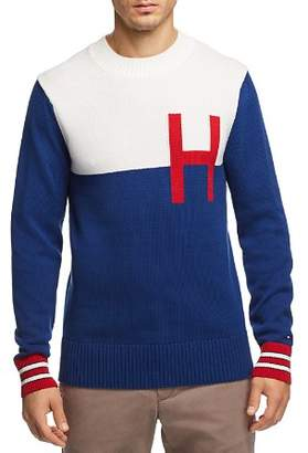 Tommy Hilfiger Color-Blocked Logo Crewneck Sweater