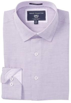Report Collection Textured Modern Fit Dress Shirt