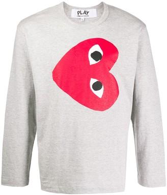 Comme des Garcons heart print sweatshirt